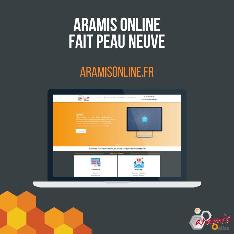 Nouveau site internet d'Aramis Online