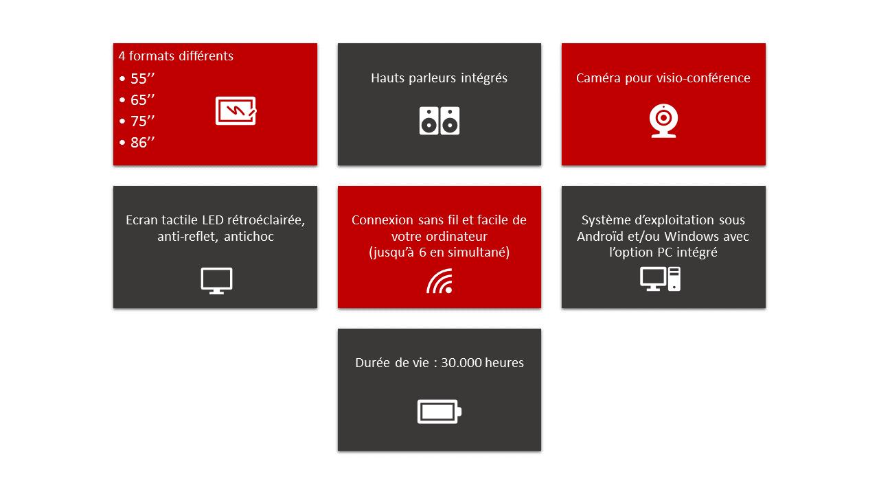 Les caractéristiques des écrans interactifs d'AramisGroup